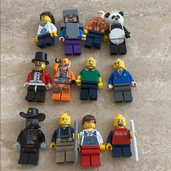 12 collectible LEGO characters